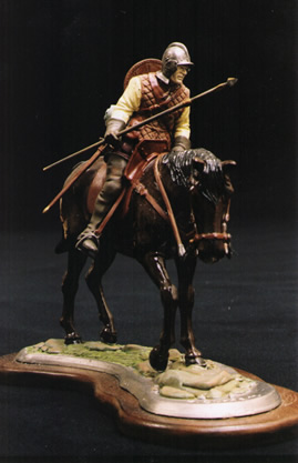 Pewter model of a border reiver